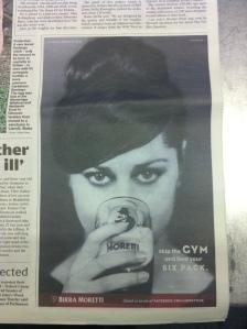 Birra Moretti print ad